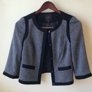 The Limited Collection Gray & Black Trimmed Blazer